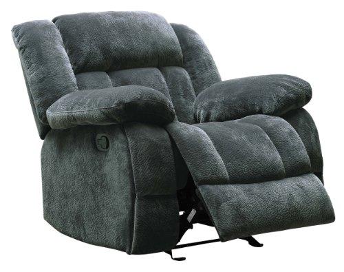 Homelegance Laurelton 43' Microfiber Glider Recliner Chair, Gray