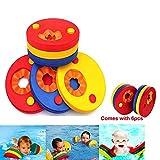 kaianda- Manguitos de natación para niños,6PCS Hechos de Espuma, Manguitos Bebe,Manguitos Dolphin,Bebe Piscina Discos Flotantes
