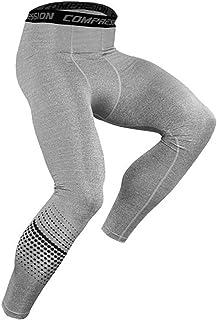 DISHANG Calzamaglia da Corsa Sportiva da Uomo Pantaloni Sportivi a Compressione Leggings ad Asciugatura Rapida