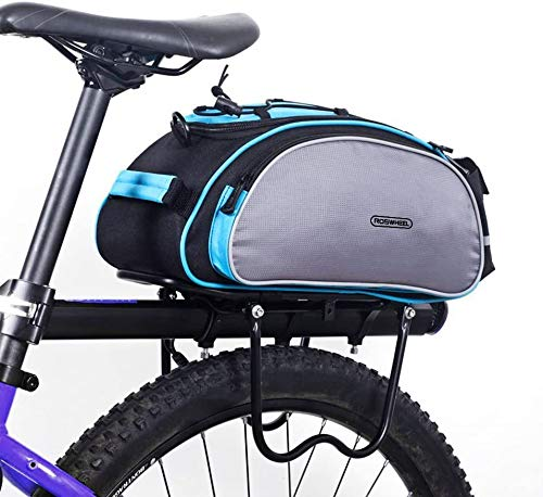 SZSMD Fahrradtasche, Wasserdicht Gepäckträgertasche 13L Fahrradtasche Packtasche mit Schultergurt