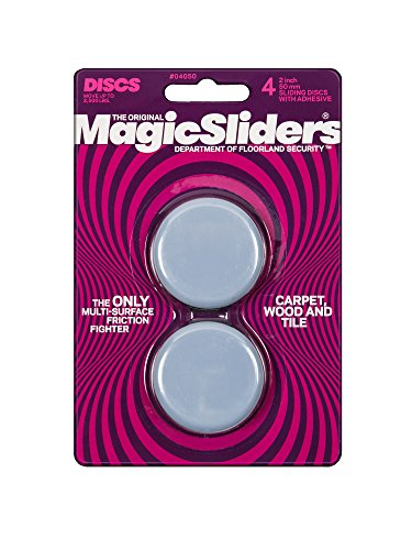 MAGIC SLIDERS L P 4050 4 Pack 2' RND Sliding Disc (Packaging May vary) , Gray