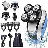 Electric Shaver for Men, Hangrui Electric Razor 4D USB Rechargeable Bald Head Shaver
