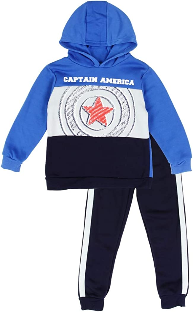Captain America Little Boys' Pullover Hoodie and Pants Set