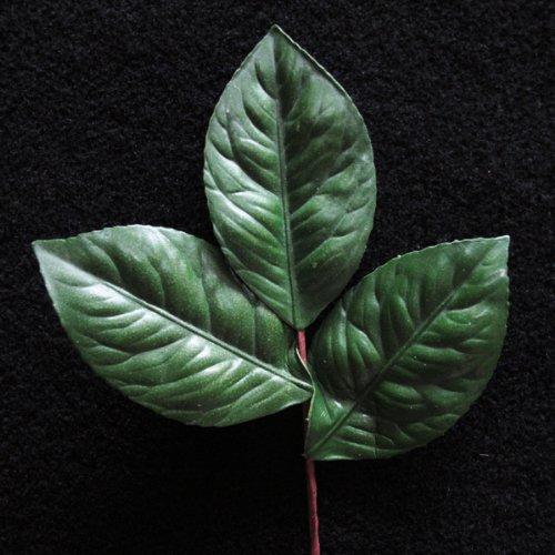 Camelia Leaf - 3-teiliges Blatt für Seidenblumengestecke