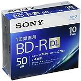 ソニー ビデオ用ブルーレイディスク 10BNR2VJPS4(BD-R 2層:4倍速 10枚パック)