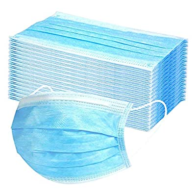 Disposable Face Masks, Disposable Surgical Face Masks, 3-Ply Face Mask (50pc)
