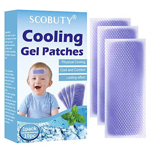 Cooling Gel Patches, Cooling Forehead Strips, Cool Gel Pads, Relieve Headache Toothache Pain Muscle Ache Drowsiness Fatigue Sunstroke, 10pc