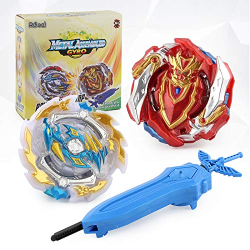 Na Bey Battle Burst Gyro Evolution Attack with Launcher Pack for Battling Tops Game Included (2 in 1)