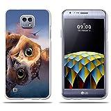 Fubaoda Coque LG X Cam K580, [Owl Head] Transparent Silicon Clear TPU Mode Creative 3D Contemporain...