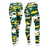 NFL Green Bay Packers Women's Camo Leggings, Green/Gold, Medium