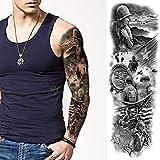 5Pcs-Waterproof Tattoo Sticker Girl Roman Clock Angel Wing Old School Tattoo Tattoo Tattoo Male Lady Lady 5Pcs-