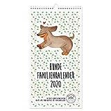 Mr. & Mrs. Panda Familie Kalender, Familienplaner, Familienkalender 2020 Hunde Collection mit Spruch - Farbe