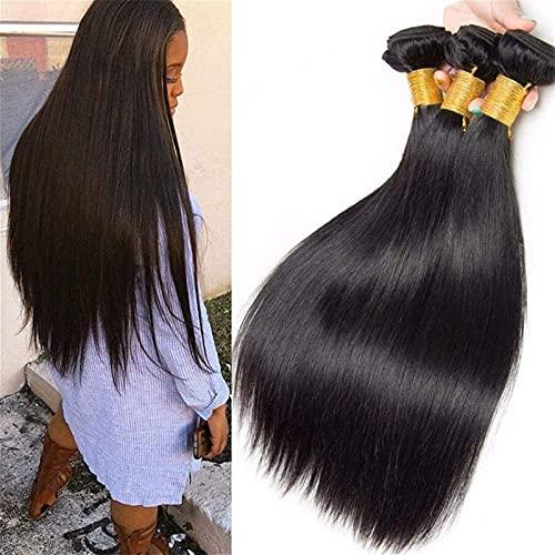 Rôle vierge brésilienne Jeux de cheveux droite 3 Bouches Silky Coiffures droites Latitude 8a Remy Couleur naturelle Couleur humaine Extension Noir (8-28 pouces) (Taille: 14 pouces) chenghuax