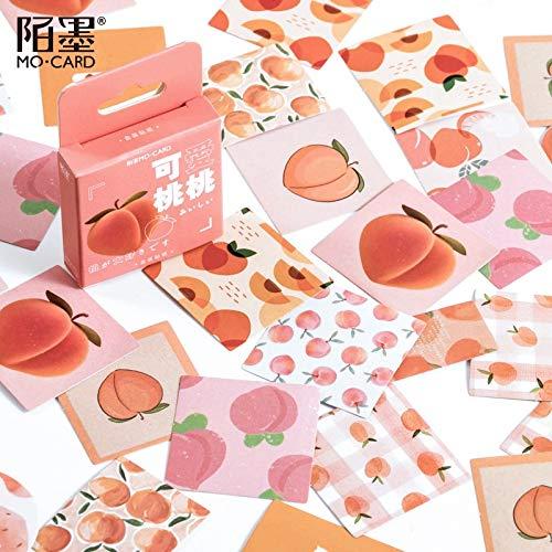 Box Cute Peach Decorative Stationery Stickers Set Kawaii Fruit Scrapbooking Diary Album Stick Lable 50 Pcs