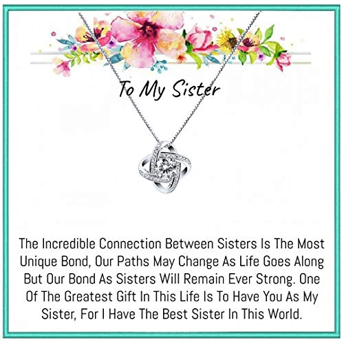 Onepurposegifts Sister gift Sister Necklace, Sister birthday gifts, Sister Gifts, Sister Necklaces (New Ziconia)