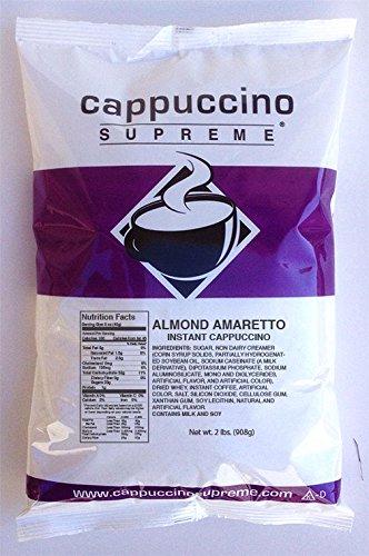 Cappuccino Supreme 2 lb bag Almond Amaretto Instant Cappuccino Mix