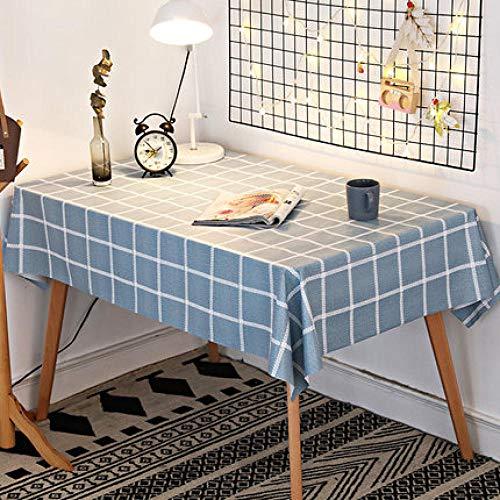 Traann plastic tafelkleden afwasbaar, modern/protector textiel backing in landelijke stijl grijs 140*180