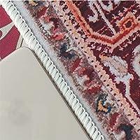 カーペット,トラディショナルエリアラグ北ヨーロッパヴィンテージカーペットリビングルームベッドルームマット、滑り止め洗えるエスニックレトロカーペットビッグカーペット(Color:Msfg-7;Size:60*90cm)