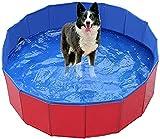 Piscina para perros Perro plegable PET PET Niños Baño Piscina Piscina Pool Pool Portátil CLORURO DE POLIVINILO Bañera de baño de gato de perro grande antideslizante para mascotas para niños Piscina pa