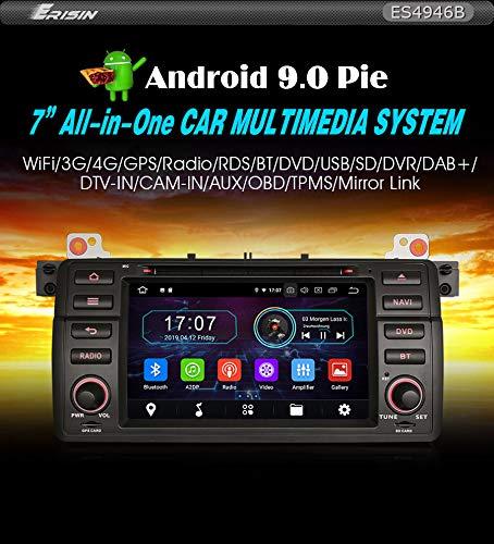 Autoradio Erisin ES4946B 7 Zoll Android 9.0 für BMW 3er E46 M3 318 320 MG ZT Rover 75 Wifi Navi
