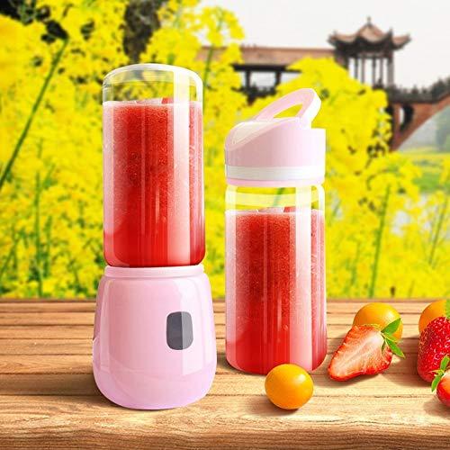 DKEE Extractor de zumos Mini Taza De Mezcla del Zumo De La Taza del Jugo De La Carga por USB del Juicer del Hogar Portátil (Color : Pink)