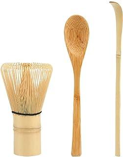 LEMESO Kit de Té Matcha Japonesa - Batidor y Cuchara para Matcha Herramienta de Bambú Chasen