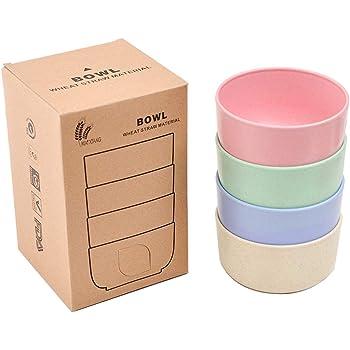 9 couleurs assorties grands bols /à soupe au lave-vaisselle Youngever Lot de 9 bols en plastique pour c/ér/éales passe au micro-ondes