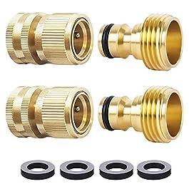 Raccord rapide pour tuyau d'arrosage 1,9 cm en laiton – Raccord mâle facile à connecter – 8 pièces de 1,9 cm