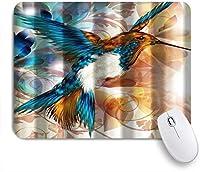 NINEHASA 可愛いマウスパッド カラフルなハチドリ ノンスリップゴムバッキングコンピューターマウスパッドノートブックマウスマット