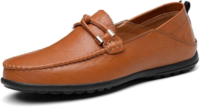 FuweiEncore Herren Mokassins Schuhe, Männer Minimalismus Loafer Leder Volltonfarbe Slip on Freizeit Mokassins bis Größe 47 (Farbe   Braun, Größe   43 EU) (Farbe   Wie Gezeigt, Größe   Einheitsgröße)  | Üppi