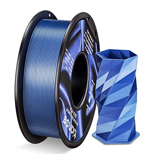TIANSE PLA Filament 1.75mm Silk Silver Blau, 3D Drucker PLA filament 1kg Spool MEHRWEG - Maßgenauigkeit +/- 0,02 mm …