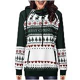 Fenverk Damen Frauen Frohe Weihnachten Schneeflocke Tops Sweatshirt Bluse Drucken Hemd Christmas...