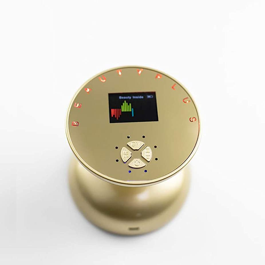 日記アナウンサーひらめきRFの無線周波数の表面持ち上がる美の心配装置、細い機械減量のマッサージャーの高周波振動美装置,Gold