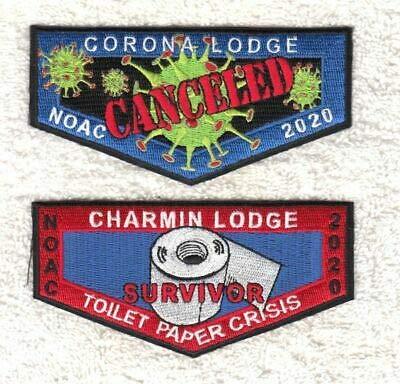 TP13 OA BSA Scouts Corona/Charmin Lodge NOAC 2020 CANCELED 2 Flap Set
