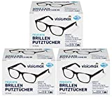 Toallitas limpiadoras para gafas, húmedas y desengrasantes para una limpieza sin rayas, 156unidades (3 paquetes de 52 unidades cada uno), para todas las gafas con lentes de cristal y plástico