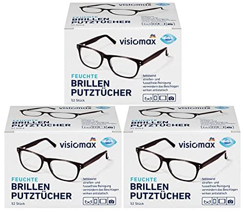 Profissimo Salviette detergenti per occhiali, solubili in acqua e grasso per tutte le lenti (confezione da 3)