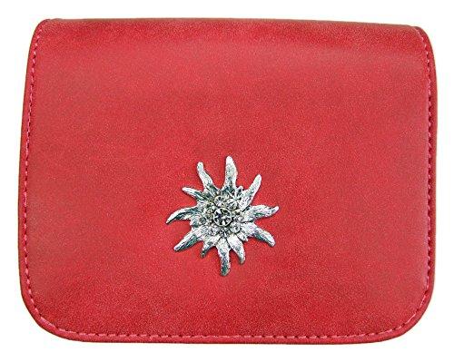 Trachtentasche mit Edelweiß Applikation Rot