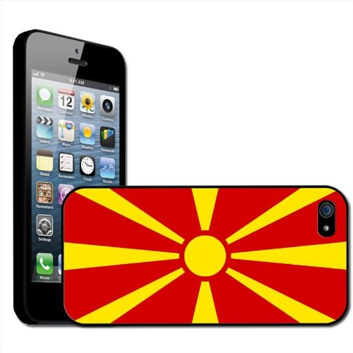 Fancy A Snuggle Macedonië de Voormalige Joegoslavische Republiek Vlag Clip Op Back Cover Hard Case voor Apple iPhone 5