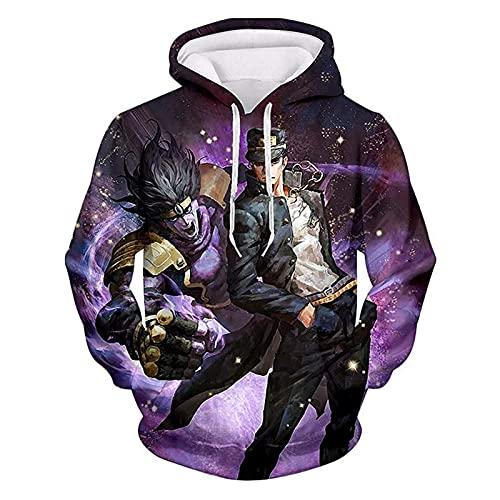 Y de los hombres de las mujeres unisex JoJo Bizarre Adventure JoJo con capucha de Bizarre Adventure 3D Imprimir con capucha con cordón del suéter con capucha de la chaqueta ( Color : 2o , Size : M )