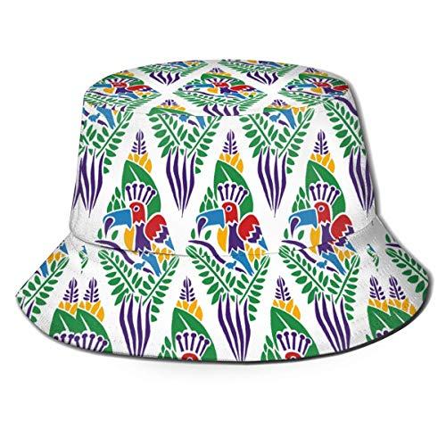 Be-ryl Gedruckter Papageienfischer-Polyesterhut, lässige Reisekopfbedeckung Sonnenhut