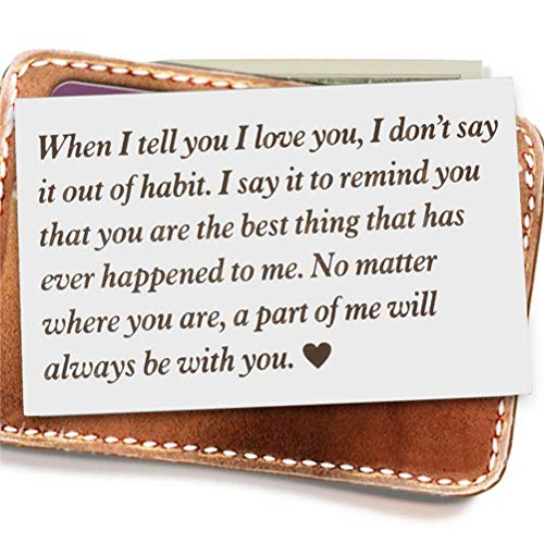 nuoshen Personalised Wallet Card Insert Soul mate Gifts...