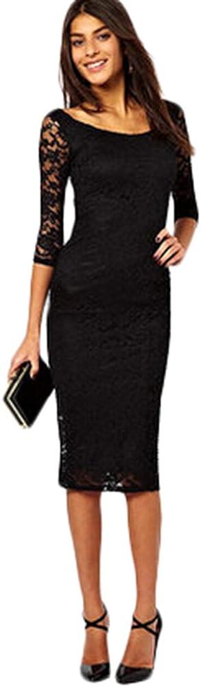 KM Women Sexy Lace Party Dress