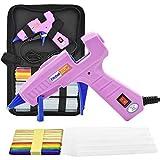 Hot Glue Gun with Glue Sticks, 40W Mini Hot Melt Glue Gun Kit with Wood craft Sticks, High Temp Melting Glue Gun Set with Carry Bag, Glue Gun Mini for Crafts and Arts, School, Home, Sealing