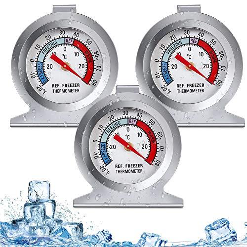 Termometri 3PCS,Termometro Frigorifero,Freezer Termometro,Termometro Congelatore,Termometro Casa,Termometro Frigorifero Digitale Wireless,Thermometer World