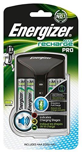 Energizer Recharge Pro acculader voor oplaadbare batterijen van de maten AA en AAA