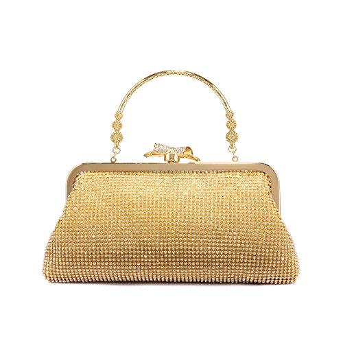 Bolso de Embrague para Mujer Clutch Bolsa para Boda Fiesta Paseo,Oro