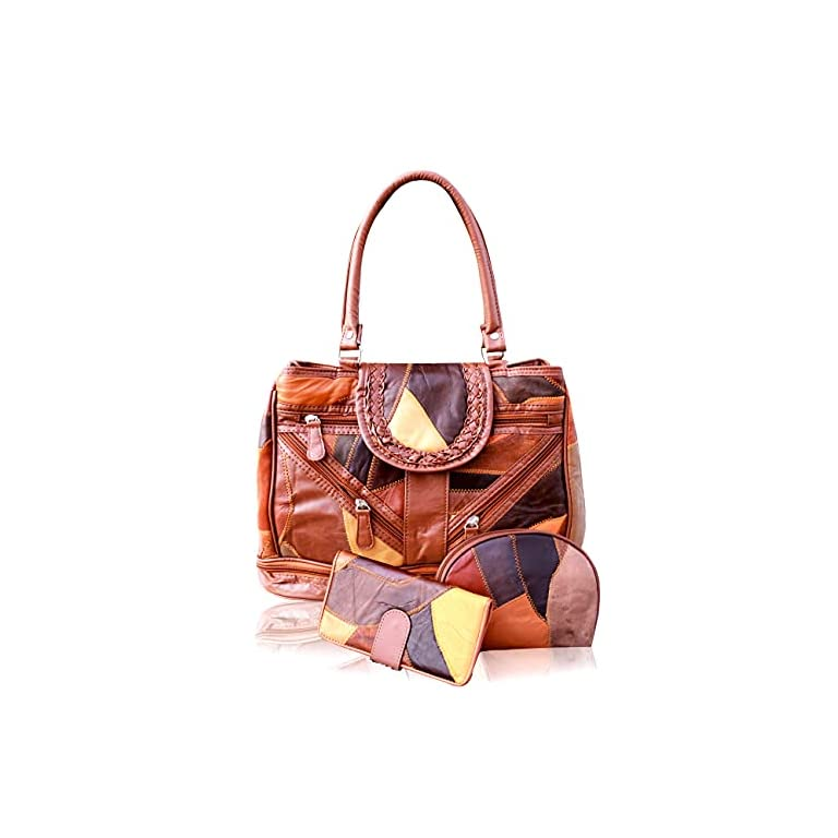 Bousni-Pure-leather-Handbags-For-Women-and-Girls-Tan-Color