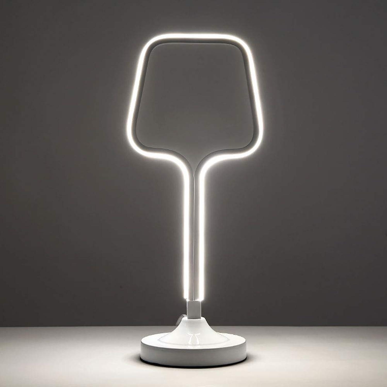 Vinmin Moderne led tischlampe, led schreibtischlampe, kreative stufenlose verdunkelung acryl led schreibtischlampe augenpflege tischlampen,Weiß
