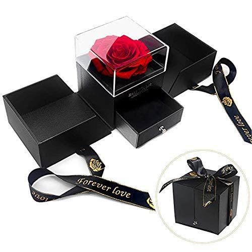 Rosen-Box, Handgefertigt Ewige Rose Geschenke Boxen for Valentine's Day, Anniversary, Birthday Ich liebe Dich Geschenke für Frauen Die Beste Freundin