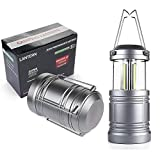 LED Camping Lantern - YIFENG Ultra Bright Portable Military Grade LED Lantern 500 Lumens w/Magnetic Base- Collapsible, Waterproof - Best for Outdoor Camping, Emergency, Hurricane, Outage (2 pack)